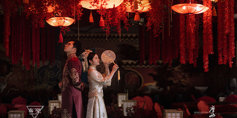 喜望婚礼定制|月落影上
